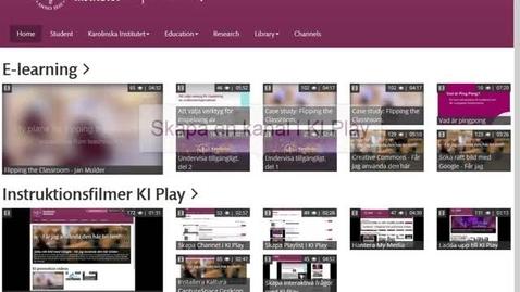Skapa en kanal på KI Play