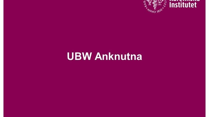 Thumbnail for channel UBW Anknutna instruktionsfilmer