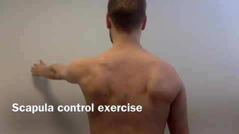 KI Scapula control exercise in standing