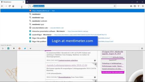 Miniatyrbild för inlägg Mentimeter - Questions from the audience