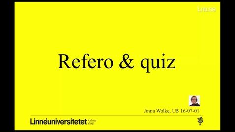 Miniatyrbild för inlägg Refero & quiz