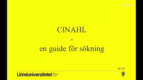 Miniatyrbild för inlägg CINAHL - en guide för sökning