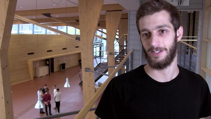 Francesco Poggi, master student in Forest and Wood engineering