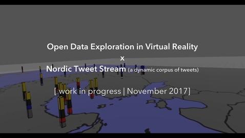 Miniatyrbild för inlägg Open Data Exploration in Virtual Reality x Nordic Tweet Stream (WIP, Nov. 2017)