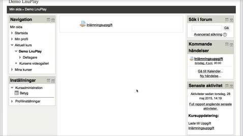 Miniatyrbild för inlägg Student i MyMoodle: Inlämningsuppgift med en eller flera filer