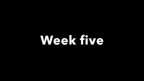 Miniatyrbild för inlägg week five