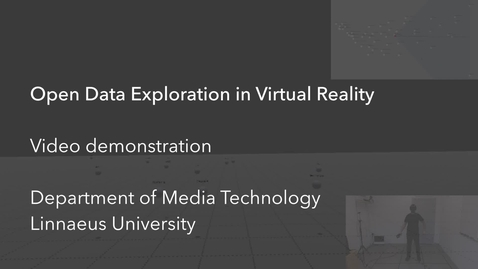 Miniatyrbild för inlägg Open Data Exploration in Virtual Reality