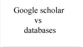 Miniatyrbild för inlägg Google Scholar vs Databases