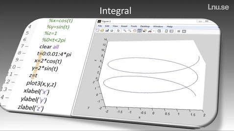 Miniatyrbild för inlägg Kommandot Integral i Matlab
