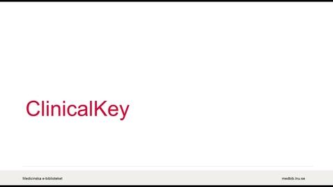 Miniatyrbild för inlägg ClinicalKey