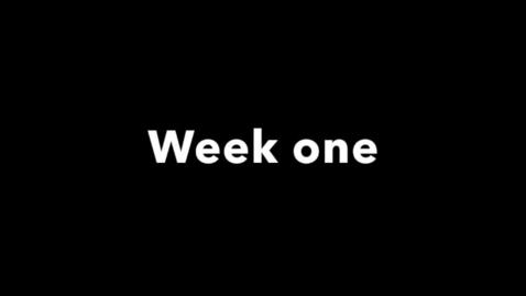 Miniatyrbild för inlägg week one