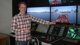 Miniatyrbild för inlägg Följ med Johan in i fartygssimulatorn