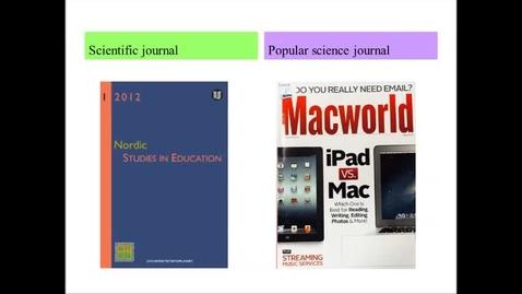 Miniatyrbild för inlägg Scientific journal & popular science journal