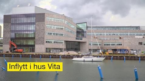 Miniatyrbild för inlägg Inflyttning i hus Vita, Universitetskajen, Kalmar
