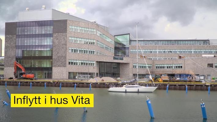 Inflyttning i hus Vita, Universitetskajen, Kalmar