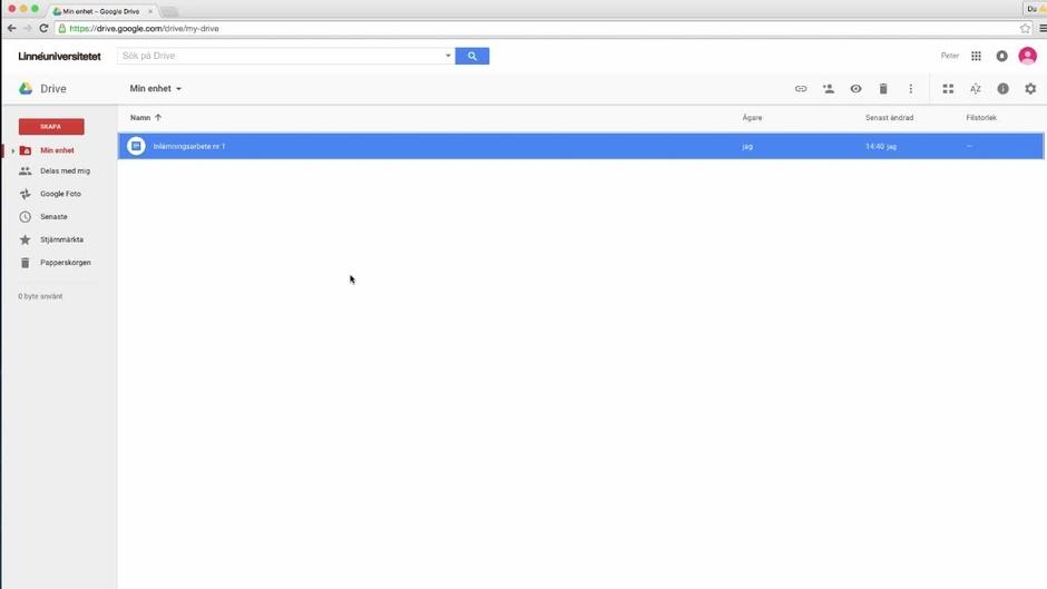 Google Drive För Studenter Del Av Dela Dokument LnuPlay - Google dokument