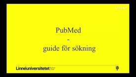 Miniatyrbild för inlägg PubMed sökning med ämnesord