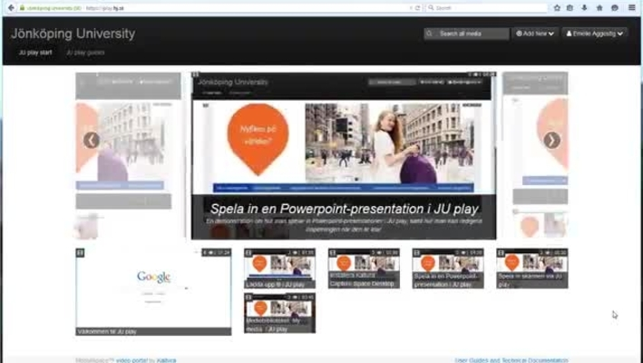 Record a Powerpoint presentation in JU play