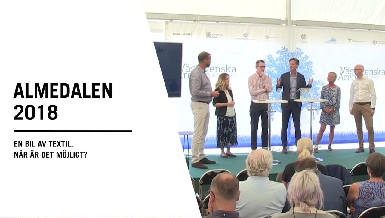 Seminarium i Almedalen: En bil av textil, när är det möjligt?
