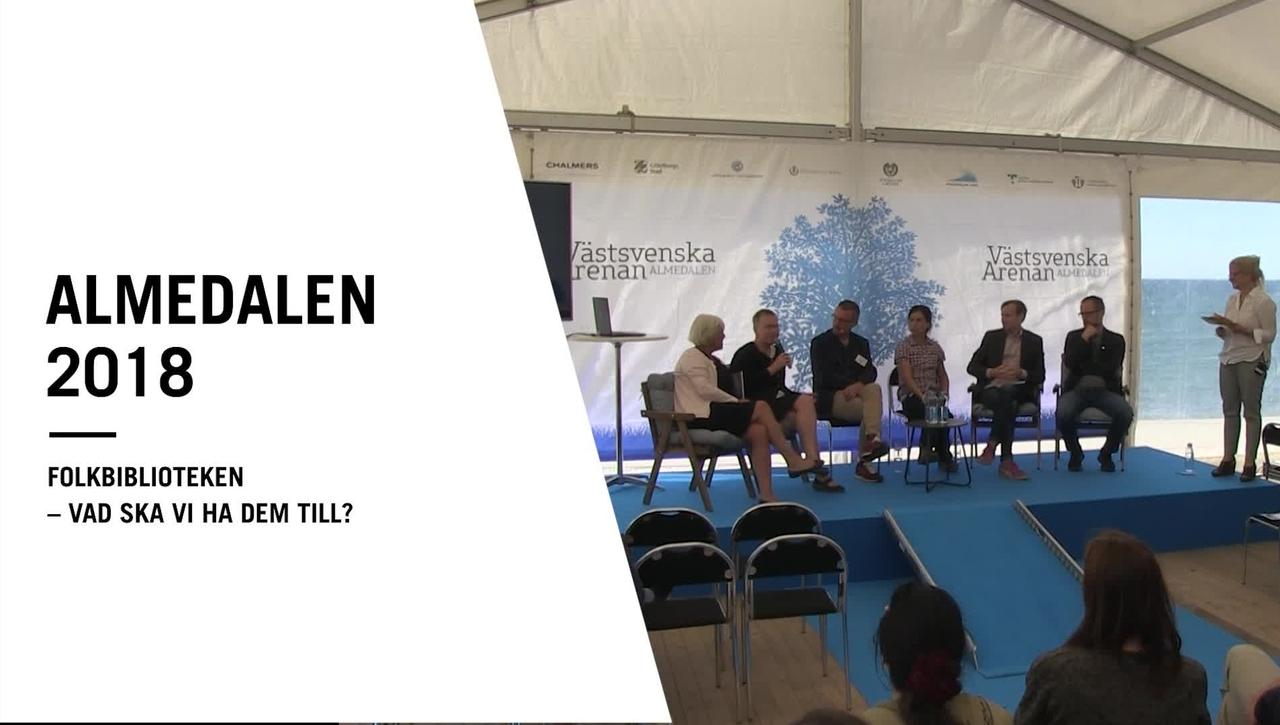 Seminarium i Almedalen: Folkbiblioteken – vad ska vi ha dem till?