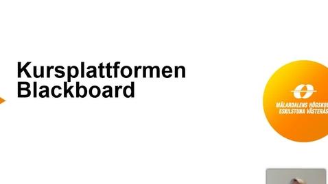 Miniatyr för inlägg Introduktion till Blackboard - Student