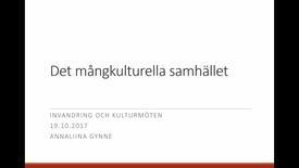 Miniatyr för inlägg Föreläsning: Det mångkulturella samhället