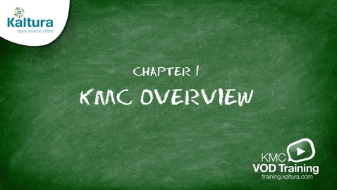 Miniatyr för inlägg Kaltura Management Console (KMC) Overview