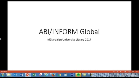 Miniatyr för inlägg ABI/INFORM Global - an example search