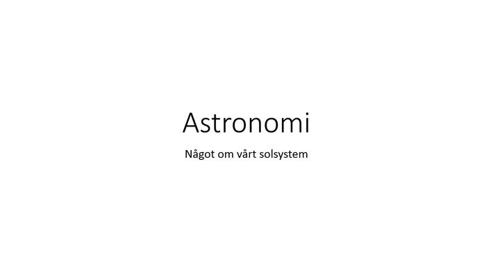Bildspel solsystemet med ljud
