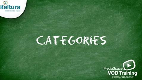 Miniatyr för inlägg MediaSpace Categories